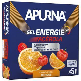 Paquete de 5 geles Apurna Energie Acérola Orange - 35g