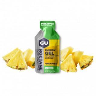 Paquete de 24 geles de roctano Gu Energy ananas sans caféine